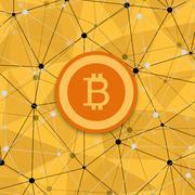 Vetor modern concept of bitcoin, new money Piirros