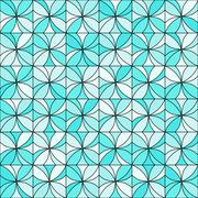 Floral Mosaic Pattern Piirros
