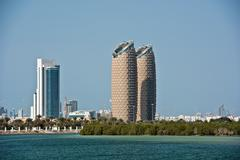 View of The Al Bahr towers in Abu Dhabi Stock Photos