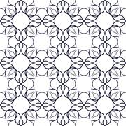Art Nouveau Linear Pattern - stock illustration