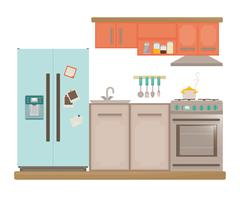 Home appliances design - stock illustration