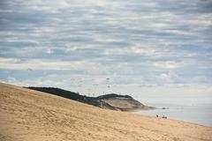 View of The Duna of Pyla, Aquitaine, France Stock Photos