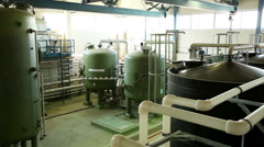 A nuclear power station. The shop of chemical water purification. Stock Footage