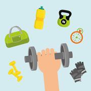 Fitness lifestyle design - stock illustration