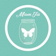 Jar mason design Stock Illustration