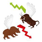 Business stock exchange Stock Illustration