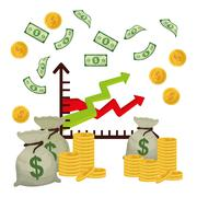 Business, money and global economy Stock Illustration