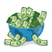 Business, money and global economy Stock Illustration