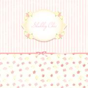 Beautiful flower-patterned background. shabby chic wedding invitation. Vector Stock Illustration
