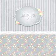 beautiful flower-patterned background. shabby chic wedding invitation. Vector - stock illustration