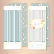 beautiful flower-patterned background. shabby chic wedding invitation. Vector - stock illustration