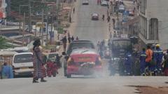 Africa Ghana Kumawu main street tele 4K Stock Footage