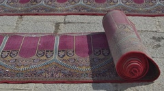Jameh Mosque of Isfahan carpets - stock footage