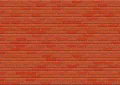 Hi-res red brick wall pattern Stock Illustration