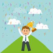 Business entrepreneur - stock illustration