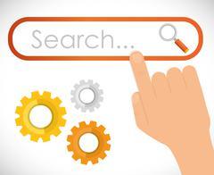 Search Engine Optimization design Stock Illustration