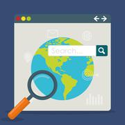 Search Engine Optimization design Stock Illustration