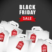 Black friday shopping season Stock Illustration