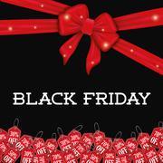 Black friday shopping season - stock illustration
