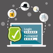 Digital fraud and hacking design Stock Illustration