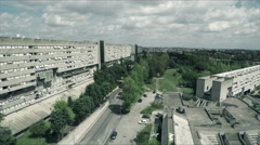 Aerial drone New Corviale. Modern building in a poor neighborhood of Rome. N. Stock Footage