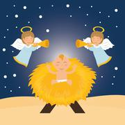 Christmas season cartoon graphic design Stock Illustration