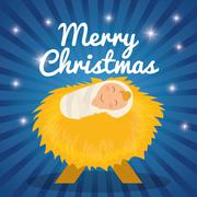 Christmas season cartoon graphic design - stock illustration
