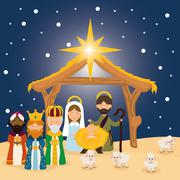 Christmas season cartoon graphic design Stock Illustration