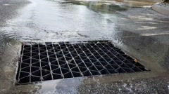 Storm Sewer Grate - stock footage