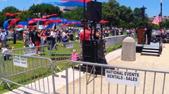 Supporters of traditional marriage hold a rally for Christian families Stock Footage