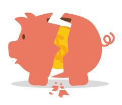 Money saving and business Stock Illustration