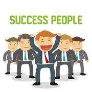 Success people cartoon design - stock illustration