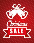 Shopping christmas offers and discounts season - stock illustration
