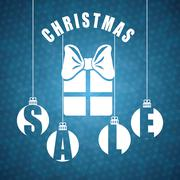Shopping christmas offers and discounts season Stock Illustration