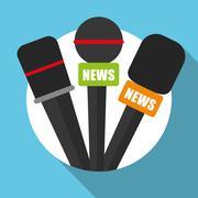 News media and broadcasting - stock illustration