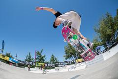Bruno Simoes during the DC Skate Challenge - stock photo