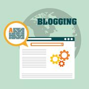 Blog, blogging and blogglers theme - stock illustration