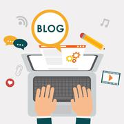 Blog, blogging and blogglers theme Stock Illustration