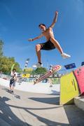 Gabriel Ribeiro during the DC Skate Challenge - stock photo