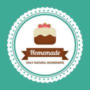 Homemade dessert graphic Stock Illustration