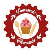 Homemade dessert graphic - stock illustration