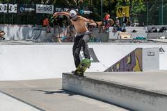 Joao Gomes during the DC Skate Challenge Stock Photos