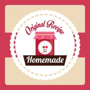 Homemade dessert graphic Stock Illustration