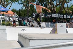 Daniel Ferreira during the DC Skate Challenge - stock photo