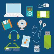 Digital era technology Stock Illustration