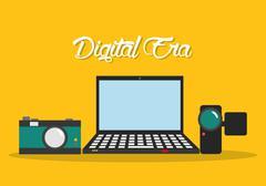 Digital era technology - stock illustration