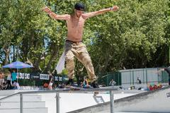 Tiago Xarepe during the DC Skate Challenge - stock photo