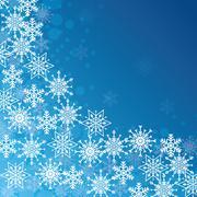 Winter snow or snowflake - stock illustration