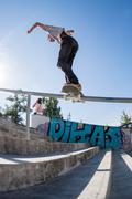 Guilherme Durand during the DC Skate Challenge - stock photo