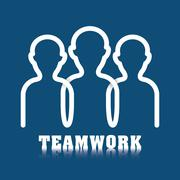 Business teamwork and leadership Stock Illustration